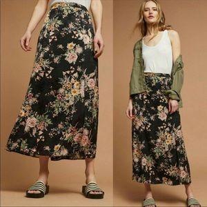 Anthropologie Maeve Blooming Flora Skirt